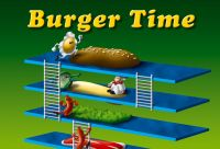 Illustrazione digitale videogioco Burger Time