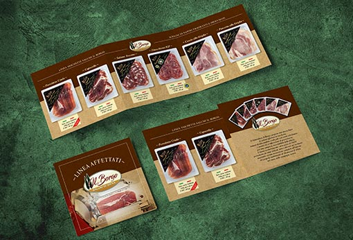 Leaflet Il Borgo sliced cold cuts line